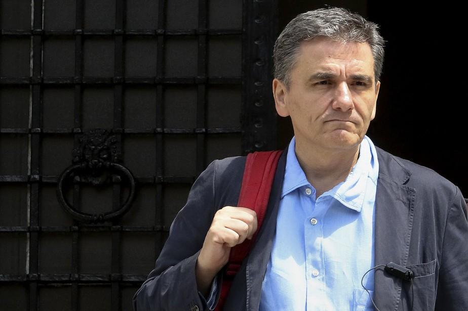 Le ministre grec des FinancesEuclid Tsakalotos... (Photo Yiannis Kourtoglou, Reuters)