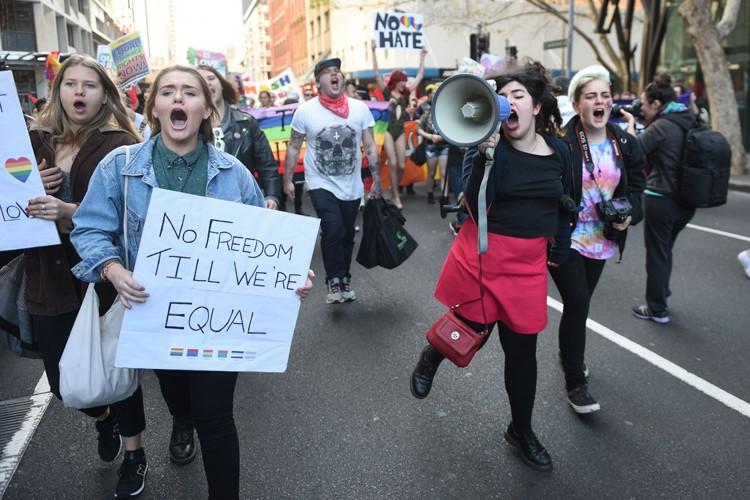 Les militants pour le mariage gai estiment que... (PHOTO AFP)