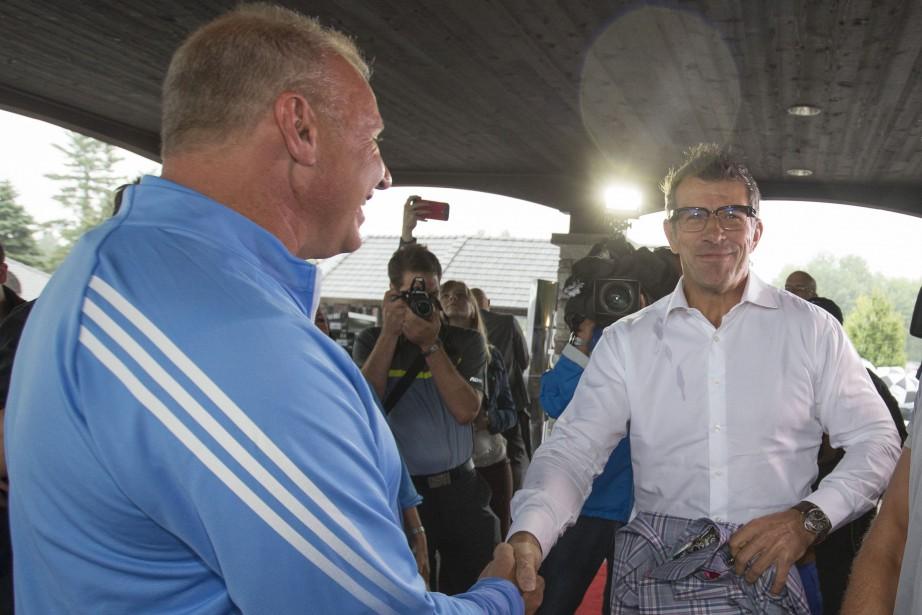 L'entraîneur-chef du Canadien, Michel Therrien, a souhaité la... (PHOTO IVANOH DEMERS, LA PRESSE)