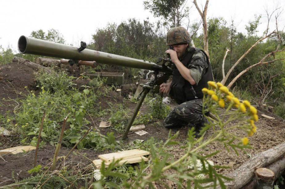 Les positions ukrainiennes ont été frappées dans cette... (Photo ANATOLII STEPANOV, archives AFP)