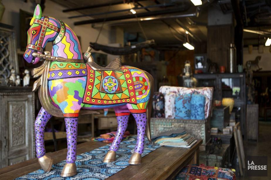 Quelques meubles sont de style industriel, mais on... (Photo Simon Giroux, La Presse)
