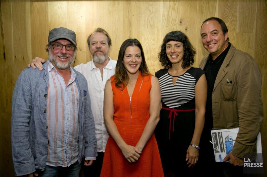Présents aux côtés du directeur artistique Denis Bernard... (PHOTO DAVID BOILY, LA PRESSE)