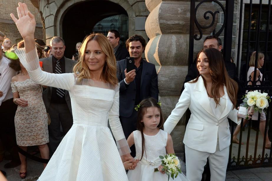 Julie Snyder estarrivée avec un peu plus d<span>'</span>une heure de retard à son mariage. (Photo Erick Labbé, Le Soleil)