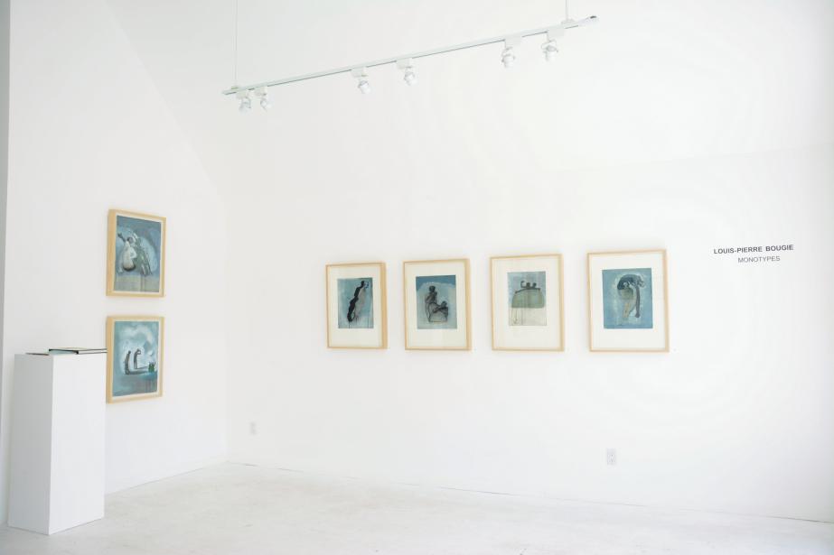 Vue de l'exposition Monotypes, oeuvres de Louis-Pierre Bougie,... (Photo Pierre Desrosiers, fournie par la galerie)