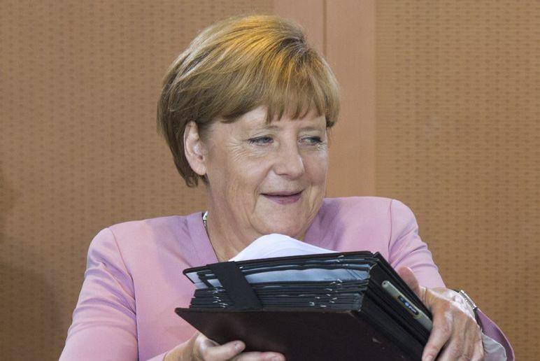 La chancelière allemande Angela Merkel.... (PHOTO JOHN MACDOUGALL, AFP)