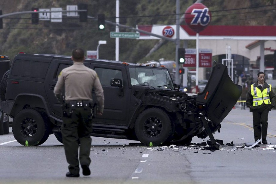 Le véhicule de Caitlyn Jenner accidenté.... (PHOTO ARCHIVES REUTERS)