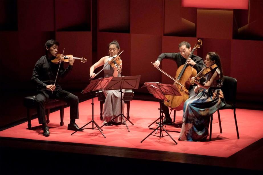 Le Quatuor Parker, de Boston, en concert hier... (PHOTO MARIE-PIERRE TREMBLAY, FOURNIE PAR L'ACADÉMIE DE McGILL)