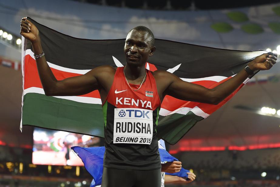 Le Kényan David Rudisha a remporté la médaille... (Photo Olivier Morin, AFP)