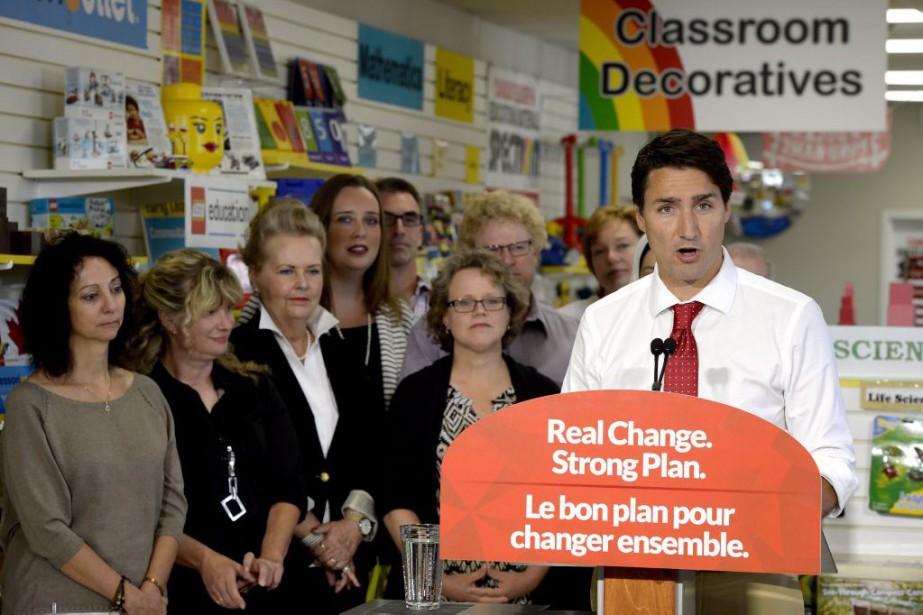 Justin Trudeau... (PHOTO PAUL CHIASSON, LA PRESSE CANADIENNE)