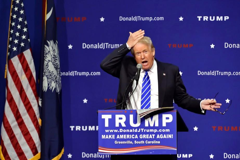 Le sulfureux candidat à l'investiture républicaine Donald Trump... (PHOTO RICHARD SHIRO, AP)