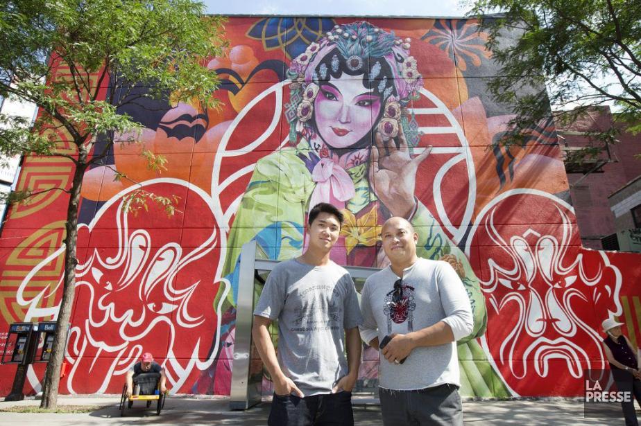 La murale s'intitule May and Old Song Open... (PHOTO ROBERT SKINNER, LA PRESSE)