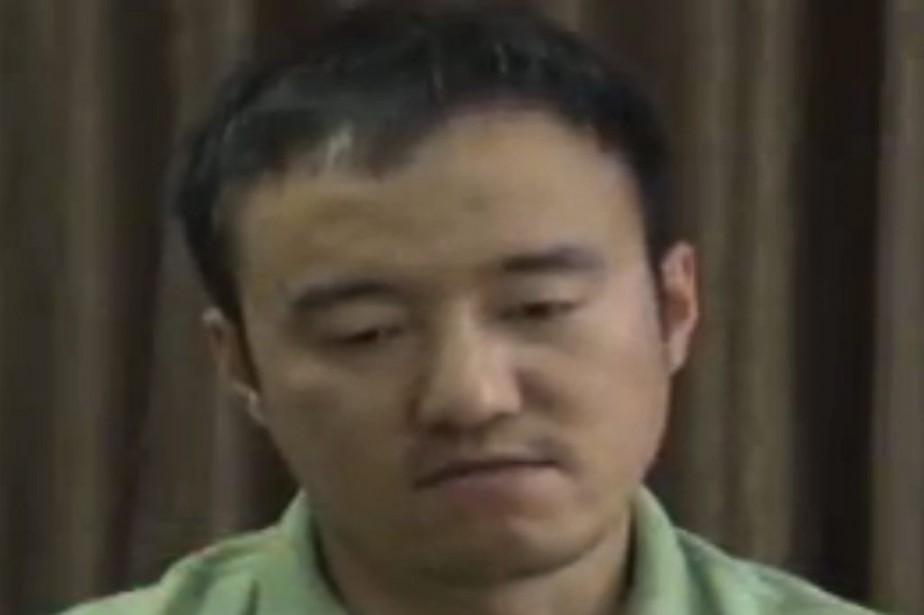 Le journaliste Wang Xiaolu est apparu dans une... (Photo AFP)