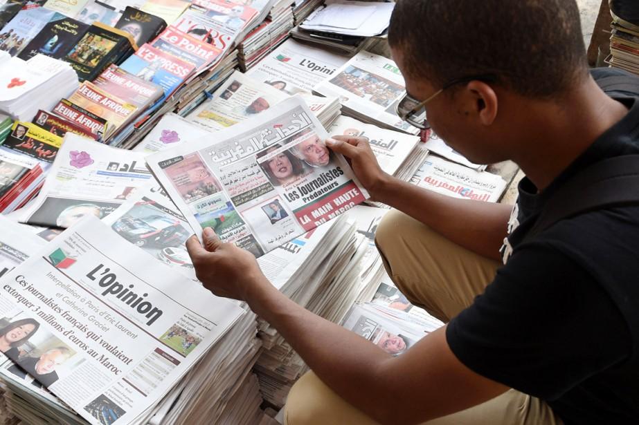 Les deux journalistes mis en examen (inculpés) samedi... (PHOTO FADEL SENNA, AFP)