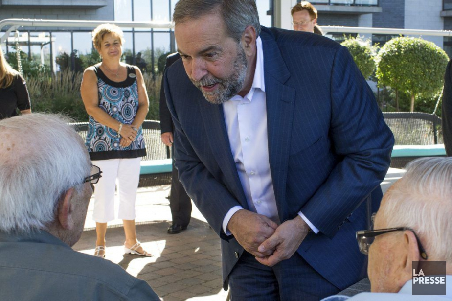 Le chef du NPD, Thomas Mulcair, était de... (Photo Martin Tremblay, La Presse)