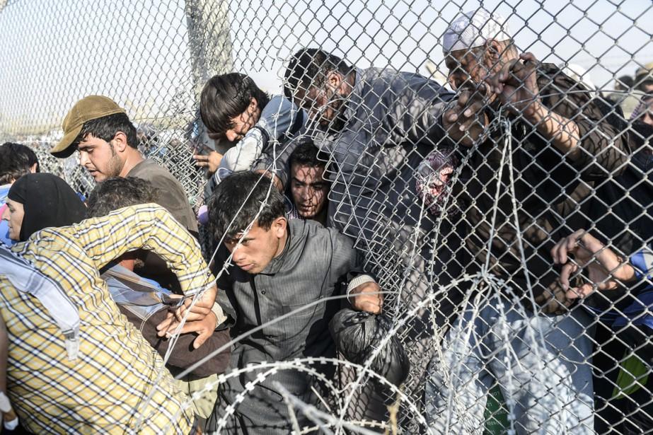 Une des photos du reportage primé du photographe... (Photo Bulent Kilic, archives AFP)