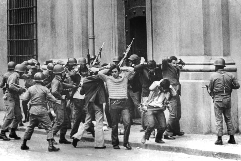 Lors du coup d'État du général Pinochet contre... (Photo d'archives The New York Times)