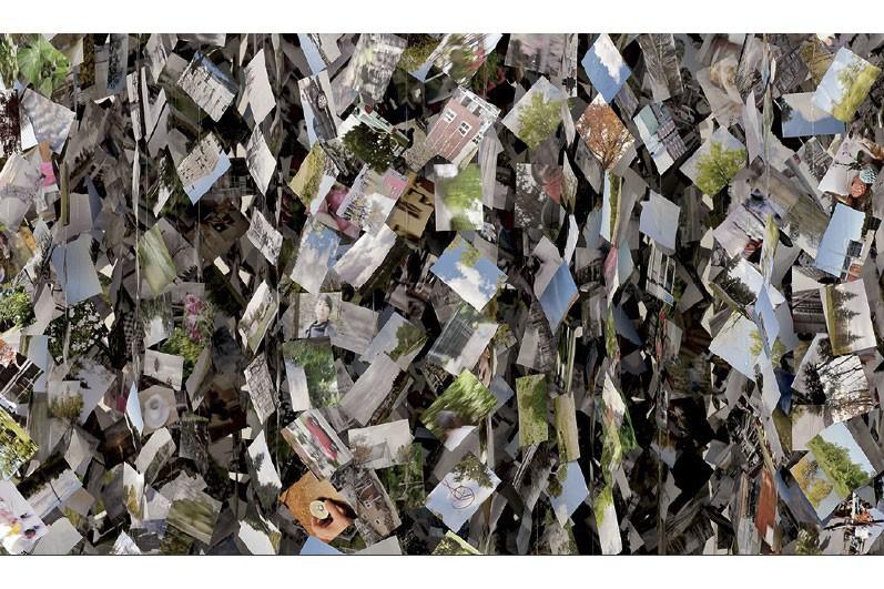 Mémoires, 2015, installation photographique, 280 000 épreuves numériques... (PHOTO FOURNIE PAR ROBERTO PELLEGRINUZZI)