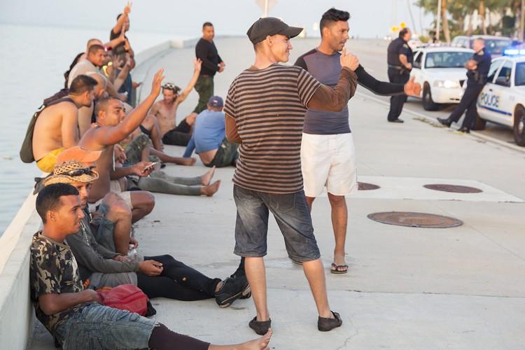 Les migrants cubains sont les seuls à être... (PHOTO AP)