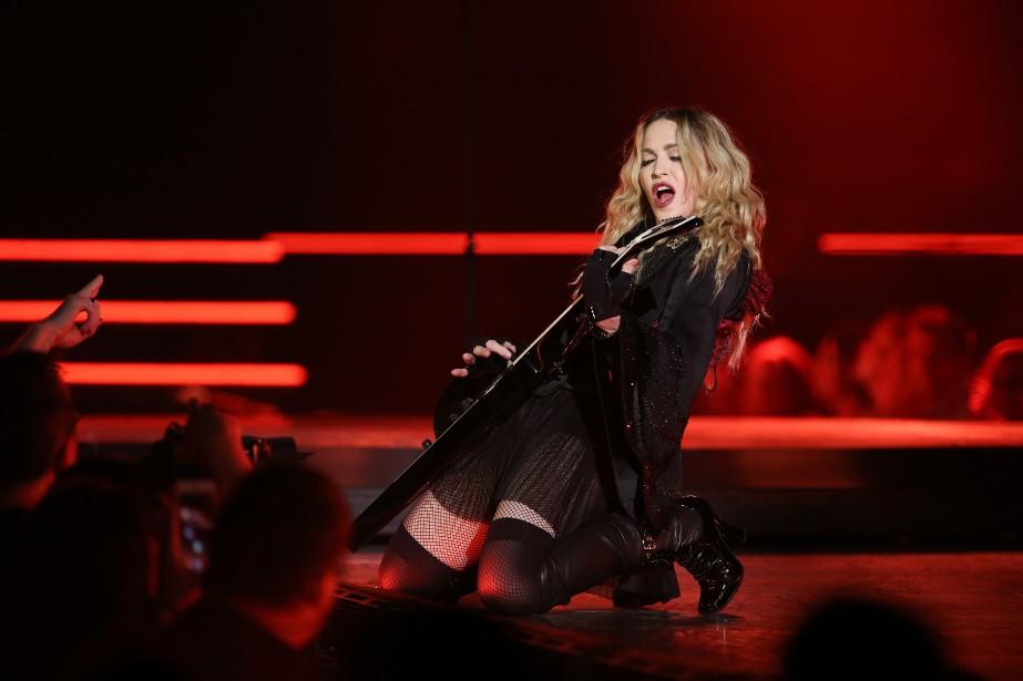 Madonna a entamé sa tournée Rebel Heart au... (PHOTO MARTIN CHAMBERLAND, LA PRESSE)