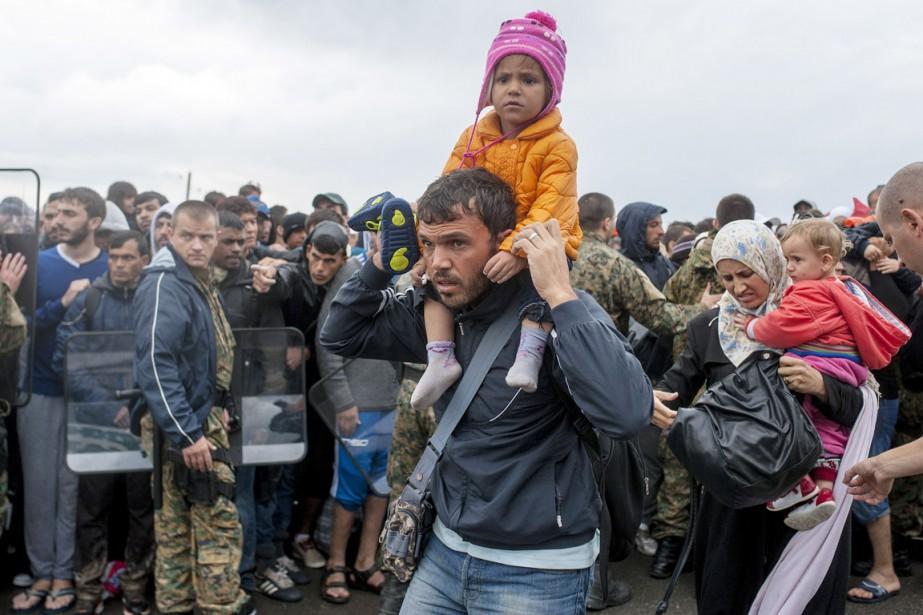 Lors de son premier discours sur l'état de... (PHOTO ROBERT ATANASOVSKI, AFP)