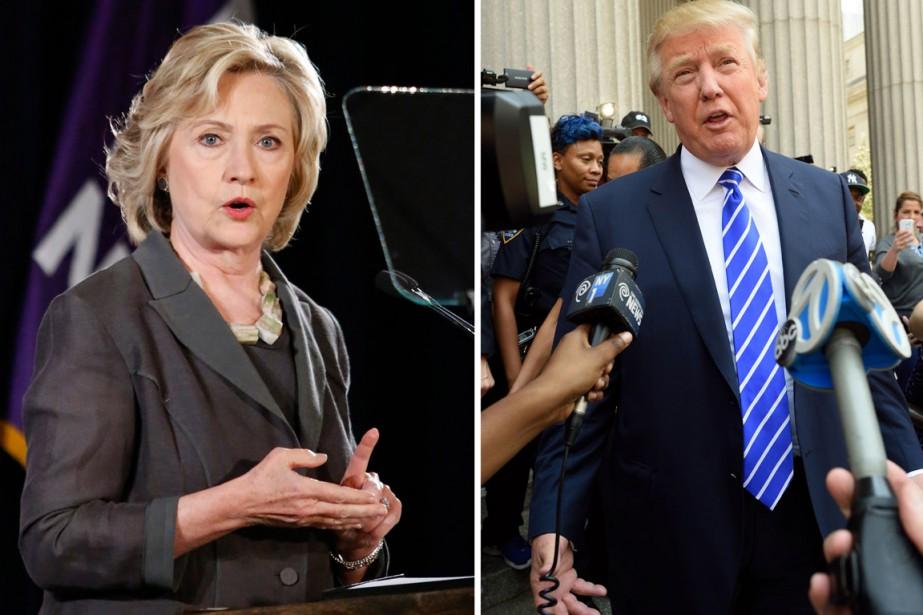 Hillary Clinton continue de glisser dans les sondages... (PHOTOS AFP)