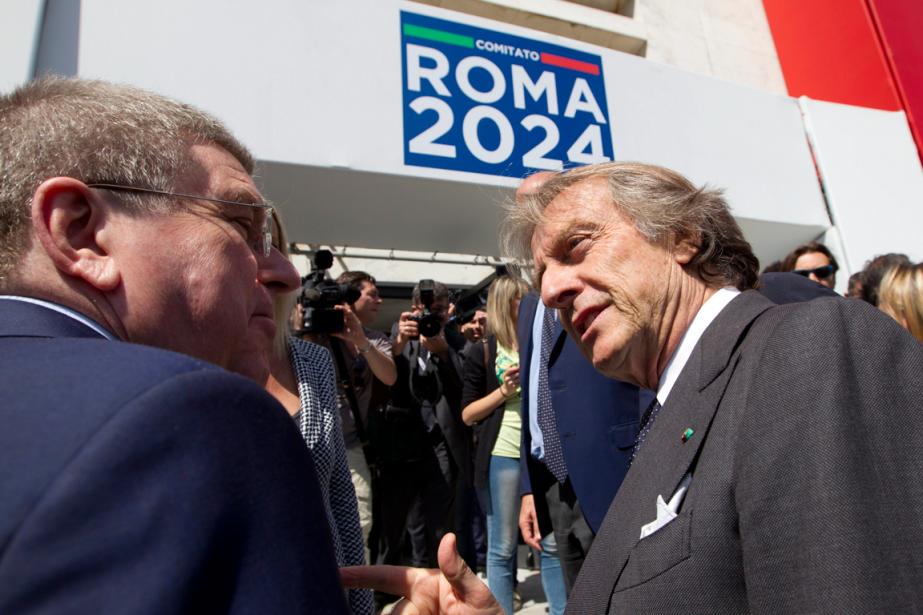 Luca Cordero di Montezemolo en compagnie de Thomas... (PHOTO AP)