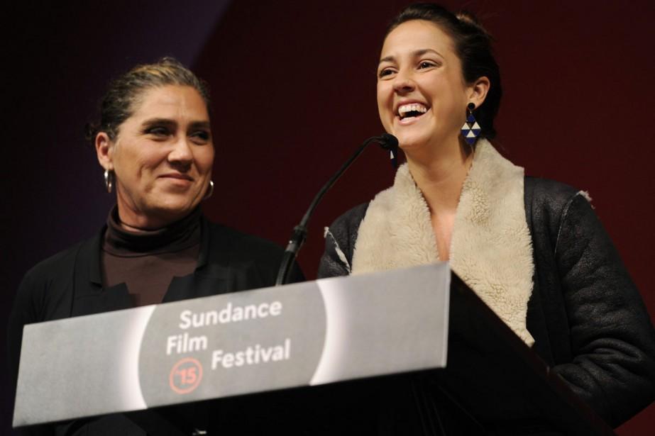 La réalisatrice Anna Muylaert (à gauche) en compagnie... (PHOTO ARCHIVES AP)