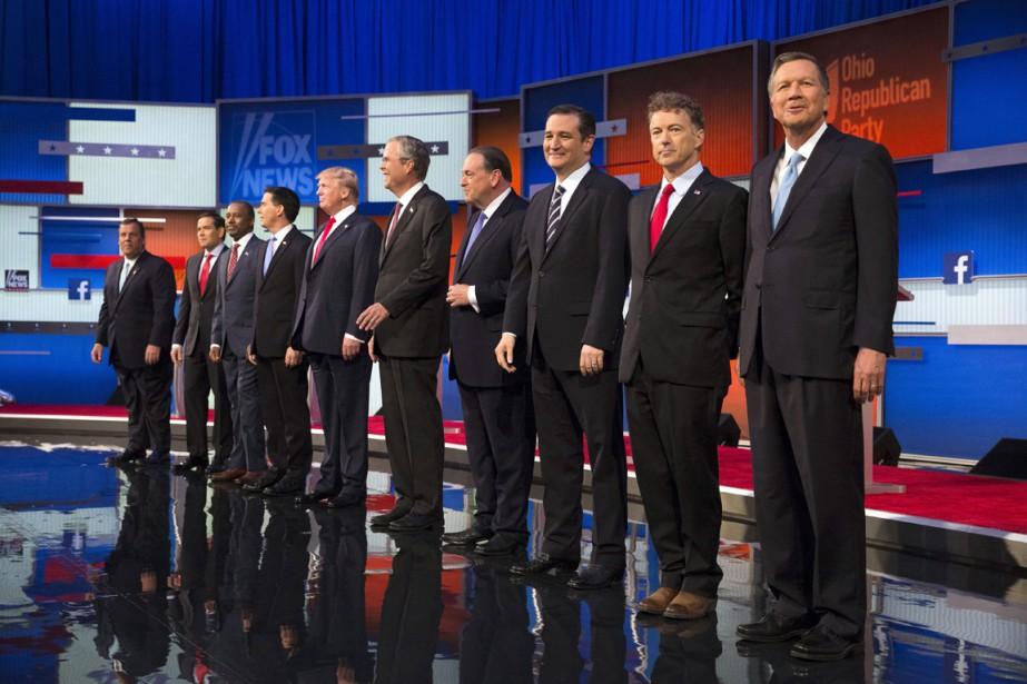 Les dix principaux candidats à l'investiture républicaine ont... (PHOTO JOHN MINCHILLO, ARCHIVES AP)