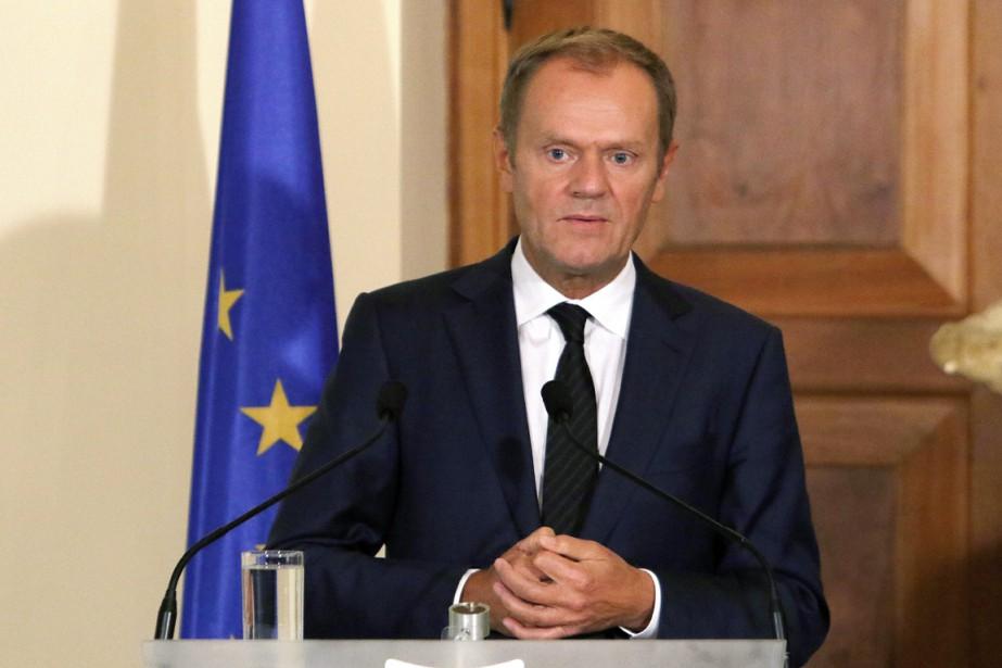 Le président du Conseil européen, Donald Tusk.... (PHOTO YIANNIS KOURTOGLOU, AP)