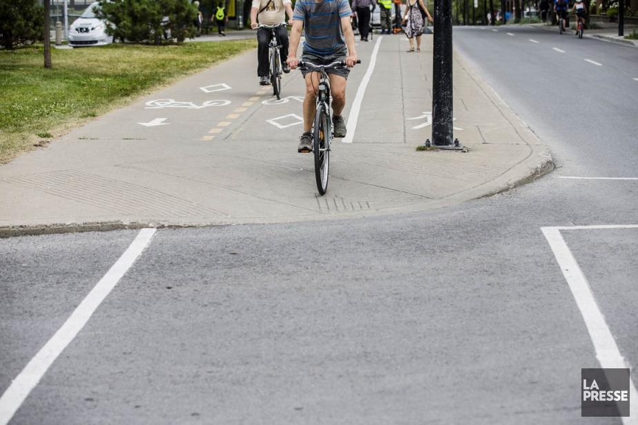 Un cycliste a été blessé... (Photo Edouard Plante-Fréchette, archives La Presse)