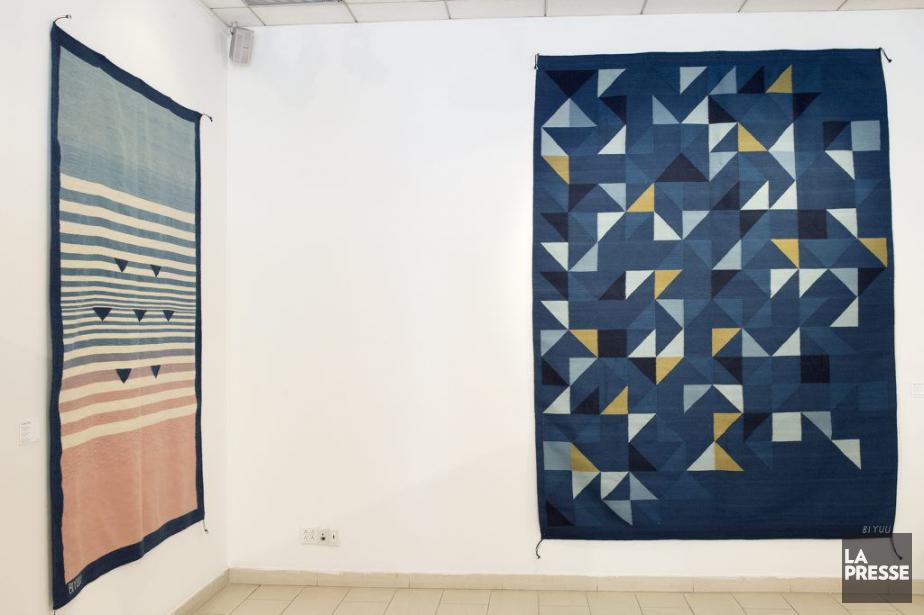 Ces deux tissages, Océano mar et Papiroflexia (Origami),... (PHOTO ROBERT SKINNER, LA PRESSE)
