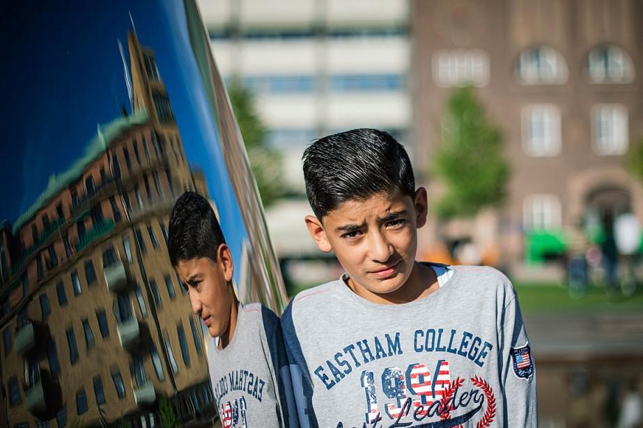 Mahmud, âgé de 13 ans, a perdu ses... (PHOTO JONATHAN NACKSTRAND, AFP)