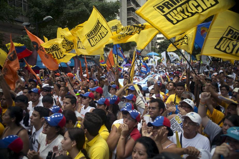 La dernière fois que les partisans de Leopoldo... (Photo Marco Bello, Reuters)