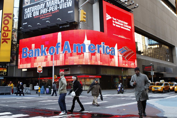 Les actionnaires de Bank of America, dont le bas de laine a... (PHOTO REUTERS)