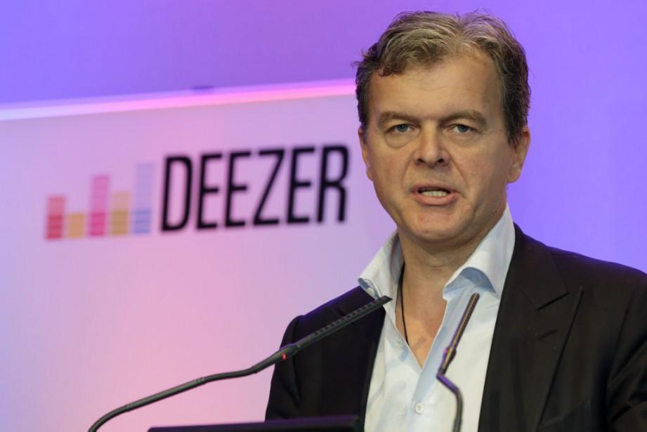 Hans-Holger Albrecht, PDG de Deezer.... (PHOTO PHILIPPE WOJAZER, REUTERS)