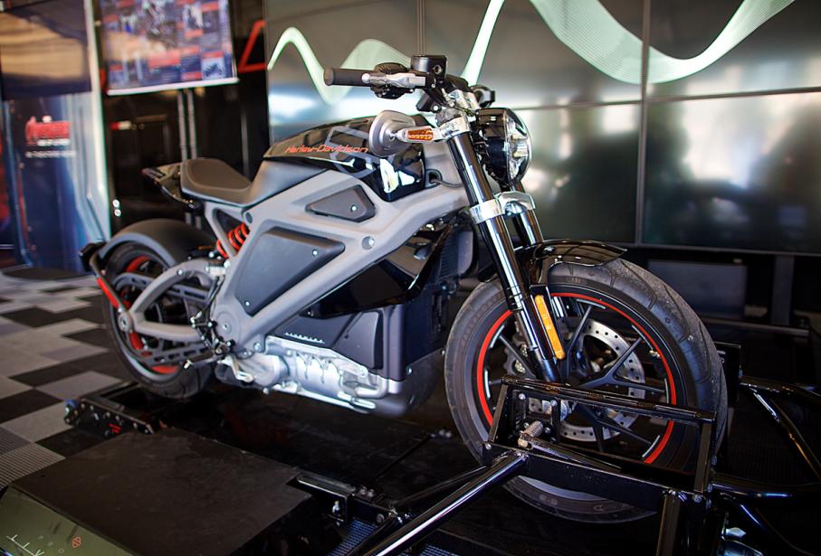 Harley-Davidson ne cache pas que l'objectif, avec la LiveWire, est de séduire une nouvelle clientèle. (Photo André Pichette, La Presse)