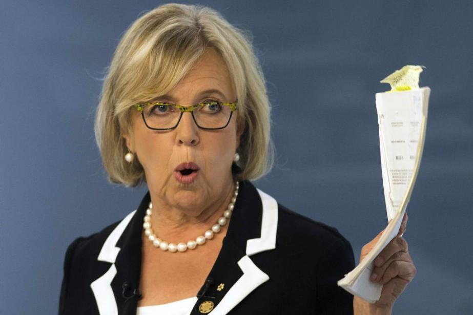 La chef des Verts Elizabeth May, jeudi, lors... (Photo Adrian Wyld, archives Reuters)