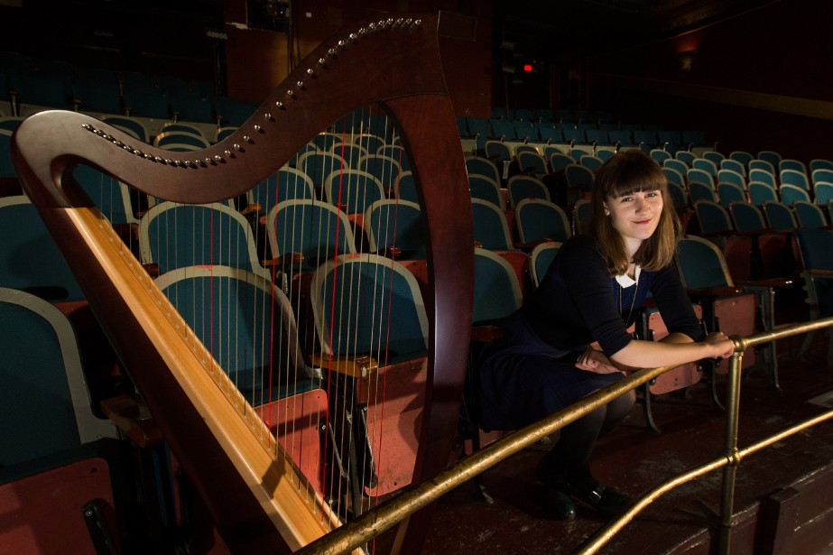 Emilie Kahn et sa harpe Ogden serontau Gesù,... (PHOTOIVANOH DEMERS, LA PRESSE)