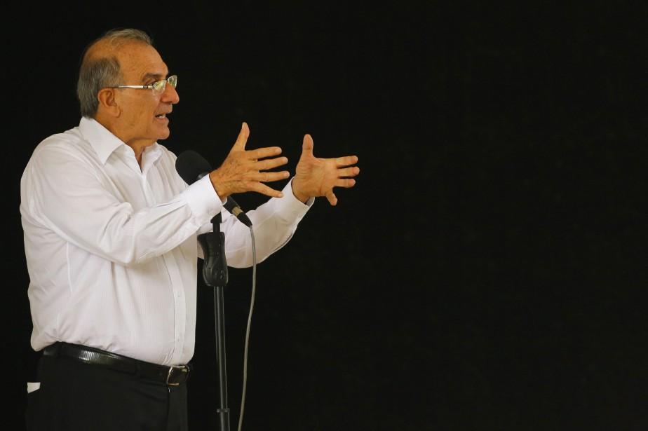 Le représentant du gouvernement colombien chargé des négociations,... (Photo Desmond Boylan, AP)
