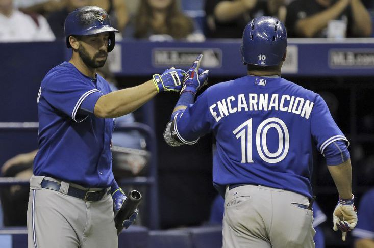 Edwin Encarnacion a claqué son 38e circuit pour... (Photo Chris O'Meara, AP)