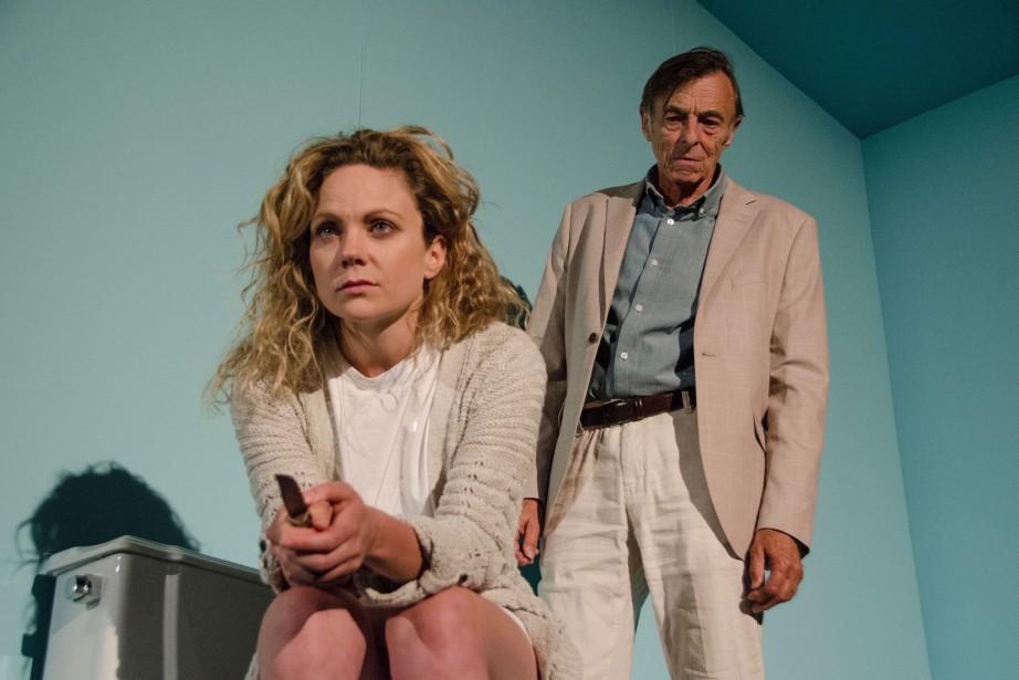 Marie-Pier Labrecque et Robert Lalonde dans la pièce... (Photo Marilène Bastien, fournie par le Théâtre d'Aujourd'hui)