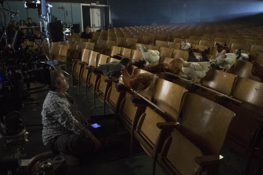Le cinéaste Jaco Van Dormael tournant une scène... (PHOTO FOURNIE PAR CLIMAX FILMS)