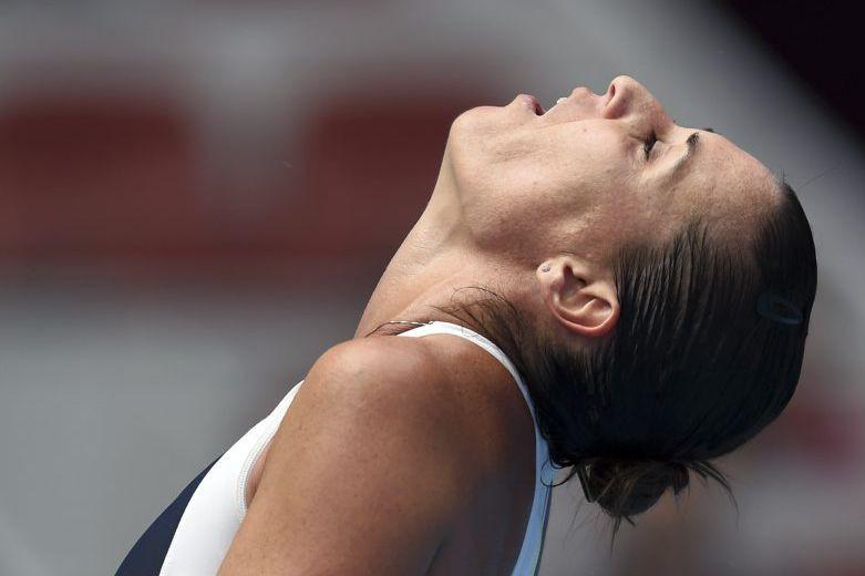 Flavia Pennetta... (PHOTO GREG BAKER, AFP)