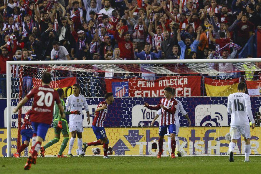 Luciano Vietto célèbre après avoir marqué un but... (PHOTO CURTO DE LA TORRE, AFP)