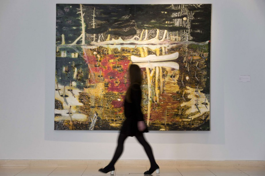 La toile emblématique Swamped de Peter Doig, achetée... (PHOTO ARCHIVES AFP)