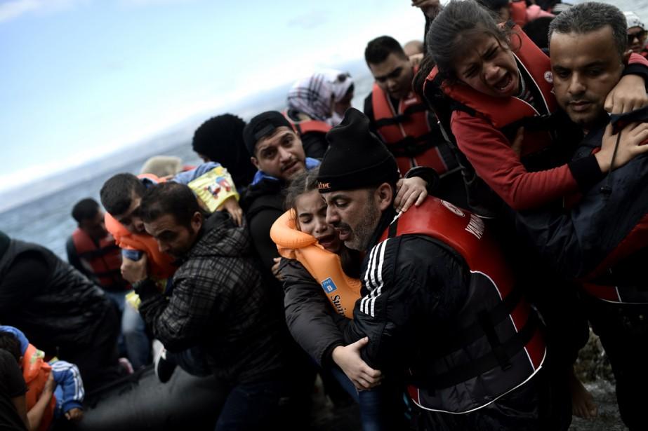 Plus de 430 000 migrants et réfugiés ont... (Photo archives AFP)