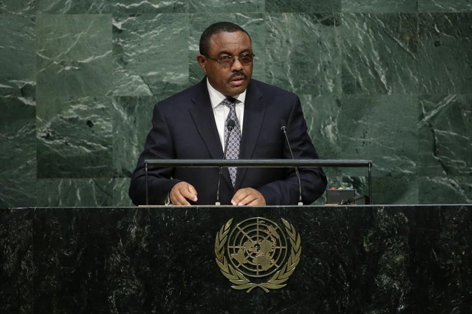 Le premier ministre éthiopien, Hailemariam Desalegn.... (AP Photo Frank Franklin II)