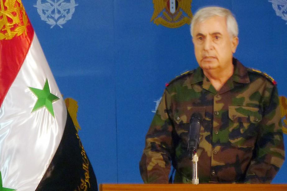 Le général syrien Ali Abdallah Ayoub a affirmé... (IMAGE AFP/SANA)