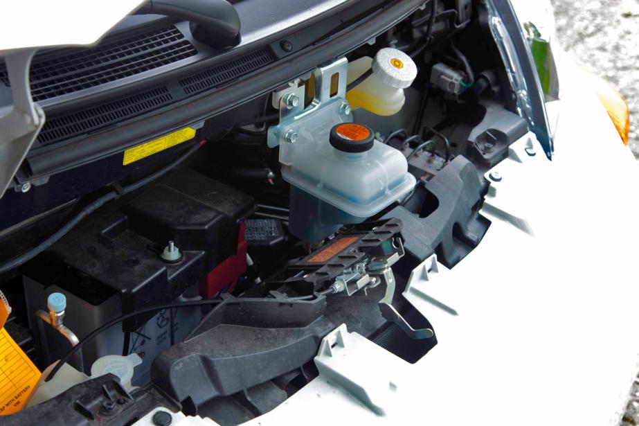 Le moteur de la Mitsubishi i-Miev (Photo Éric LeFrançois, collaboration spéciale)