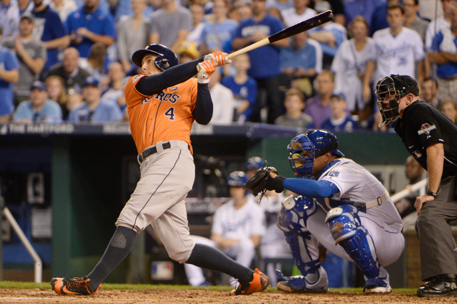George Springer a frappé un circuit en solo... (Photo John Rieger, USA Today)